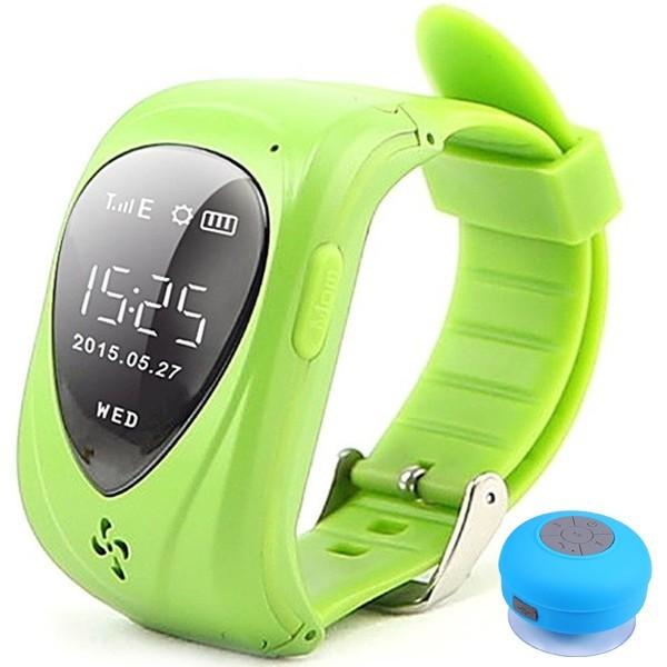 Ceas Smartwatch GPS Copii iUni U11,Telefon incoporat, Alarma SOS, Green + Boxa Cadou imagine techstar.ro 2021