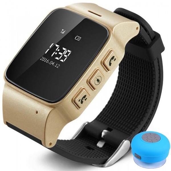 Ceas GPS Copii si Seniori iUni U100, Telefon incorporat, Pedometru, Notificari, Wi-fi, Champagne Gold + Boxa imagine techstar.ro 2021