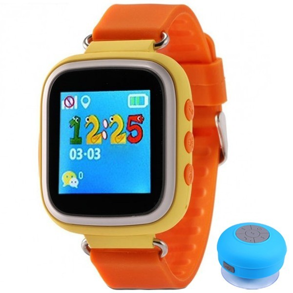 Ceas Smartwatch cu GPS Copii iUni Kid90, Telefon incorporat, Buton SOS, BT, LCD 1.44 Inch, Orange + Boxa Cadou imagine techstar.ro 2021