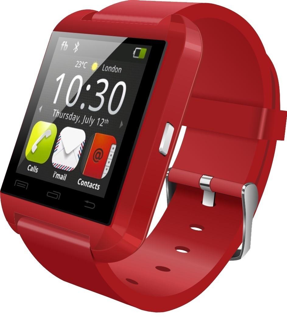 Resigilat! Smartwatch iUni U8+, BT, LCD 1.44 inch, Notificari, Rosu imagine techstar.ro 2021