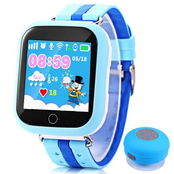 Ceas GPS Copii iUni Kid601, Telefon incorporat, Alarma SOS, 1.54 Inch, Touchscreen, Jocuri, Blue + Boxa Cadou