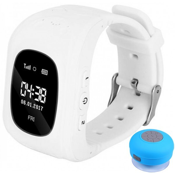 Ceas Cu Gps Tracker Si Telefon Pentru Copii Iuni Kid60, Bt, Apel Sos, Activity And Sleep, Alb + Boxa Cadou