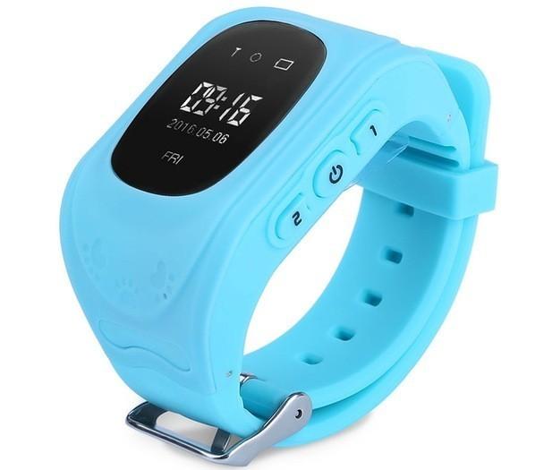 Resigilat! Ceas cu GPS Tracker si Telefon pentru copii iUni Kid60, BT, Apel SOS, Albastru