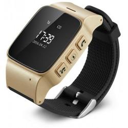 Resigilat! Ceas GPS Copii si Seniori iUni U100, Telefon incorporat, Pedometru, Wi-fi, Champagne Gold