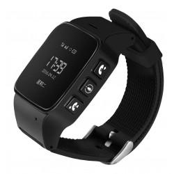 Resigilat! Ceas GPS Copii si Seniori iUni U100, Telefon incorporat, Pedometru, Notificari, Wi-fi, Negru