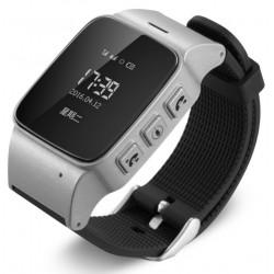 Resigilat! Ceas GPS Copii si Seniori iUni U100, Telefon incorporat, Pedometru, Notificari, Wi-fi, Argintiu