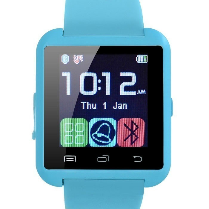 Resigilat! Ceas Smartwatch iUni U8+, BT, LCD 1.44 inch, Notificari, Light Blue imagine techstar.ro 2021