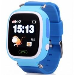 Resigilat! Ceas Gps Copii iUni Kid100, Touchscreen, BT, Telefon incorporat, Buton SOS, Blue