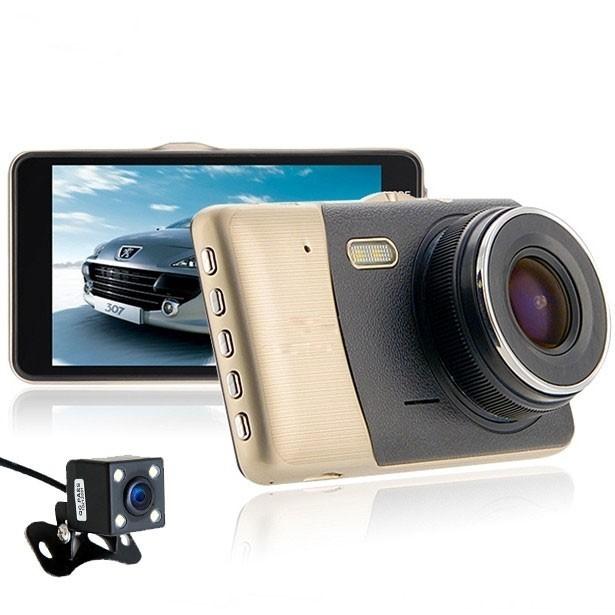 Resigilat! Camera auto Dubla DVR iUni Dash 401, Full HD, 4 Inch, 170 grade