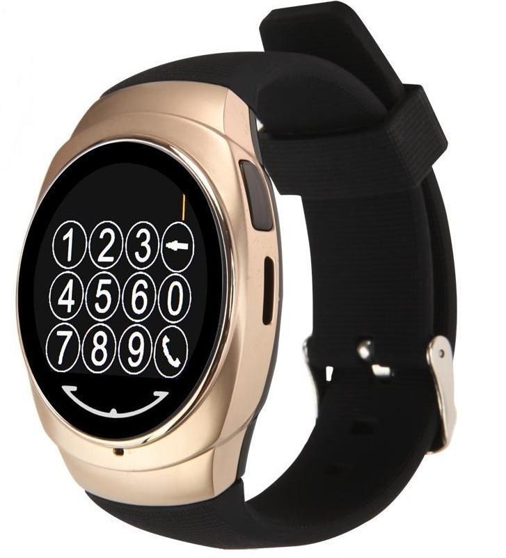 Resigilat! Ceas Smartwatch iUni Classic O100, BT, LCD 1.3 Inch, Camera, Gold