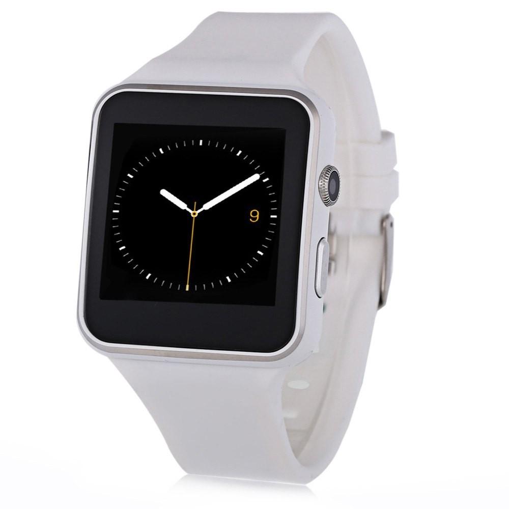 Smartwatch X6S Bluetooth Compatibil MicroSD si SIM Cu Camera Alb