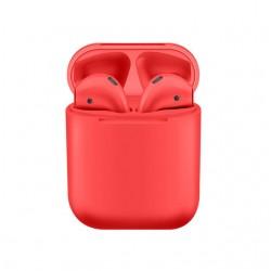 Casti i9000 TWS AIR 2 Techstar®, Bluetooth, Wireless, Pentru Android si iOS, Rosu