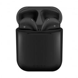 Casti i88 TWS Techstar®, Bluetooth si Wireless Pentru Android si iOS, BT 5.0, Rezistente la apa, Negru