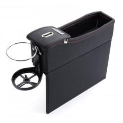 Cutie Organizatoare Scaun Auto Neagra din Piele, Depozitare Obiecte