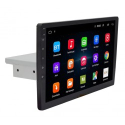 "Multimedia Android 8.1 Auto 1DIN Techstar®, Display 10"" Ajustabil Sus/Jos, WiFi, Bluetooth, GPS, MP5, 1GB Ram, 16GB Rom"