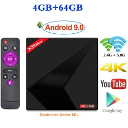 Media player TV Box X88 Max Plus Android 9, 4GB RAM,64GB ROM Netflix