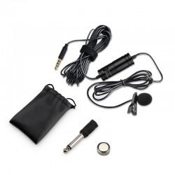 Microfon Lavaliera cu Prindere pt Smartphone si DSLR, Sunet HD, Zgomot Redus, 3.5mm, Buton Comutabil, Clips Prindere