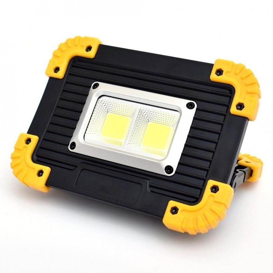 Proiector portabil LED 20W cu acumulatori, lanterna , power bank si antisoc imagine techstar.ro 2021