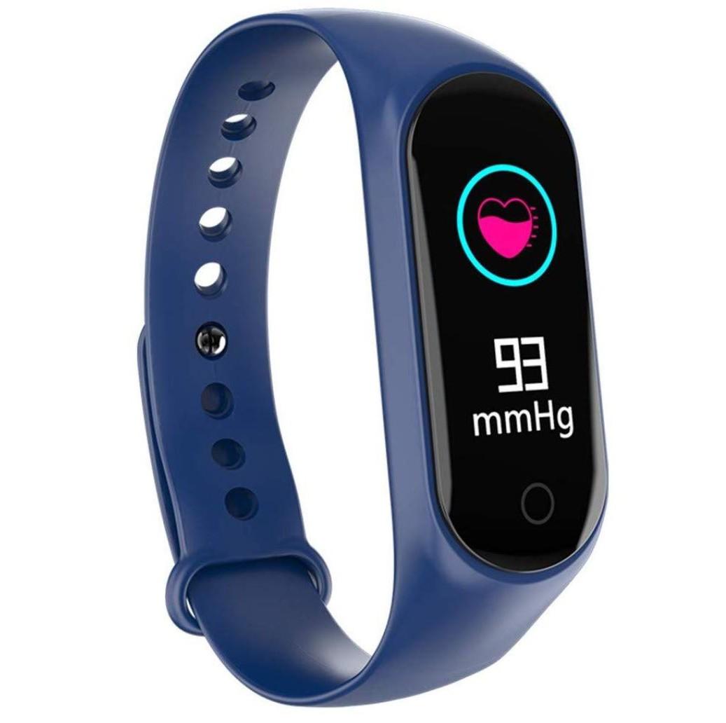 Bratara Sport M4 Techstar® Pentru Fitness, Monitorizarea Presiunii Sangelui si A Batailor Inimii, Albastru imagine techstar.ro 2021