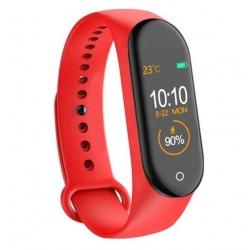 Bratara Sport M4 Techstar® Pentru Fitness, Monitorizarea Presiunii Sangelui si A Batailor Inimii, Rosu