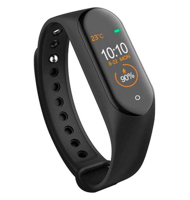 Bratara Sport M4 Techstar® Pentru Fitness, Monitorizarea Presiunii Sangelui si A Batailor Inimii, Negru imagine techstar.ro 2021