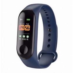 Bratara Smart Fitness Techstar® M3 Plus , Unisex, Monitorizarea Sangelui si Ritmului Cardiac, Albastru Inchis