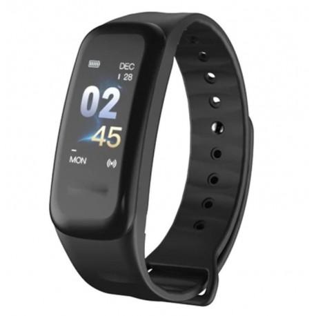 Bratara Smart Smartband Techstar® C1 Fitness, Waterproof IP67, BT4.0, OLED Color, Negru