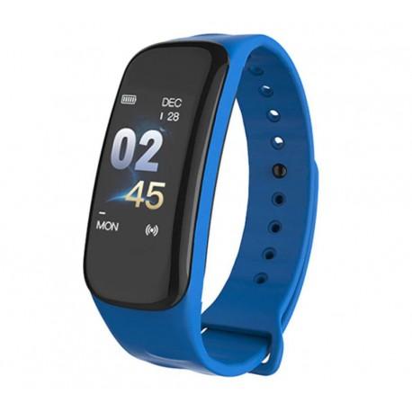 Bratara Smart Smartband Techstar® C1 Fitness, Waterproof IP67, BT4.0, OLED Color, Albastru