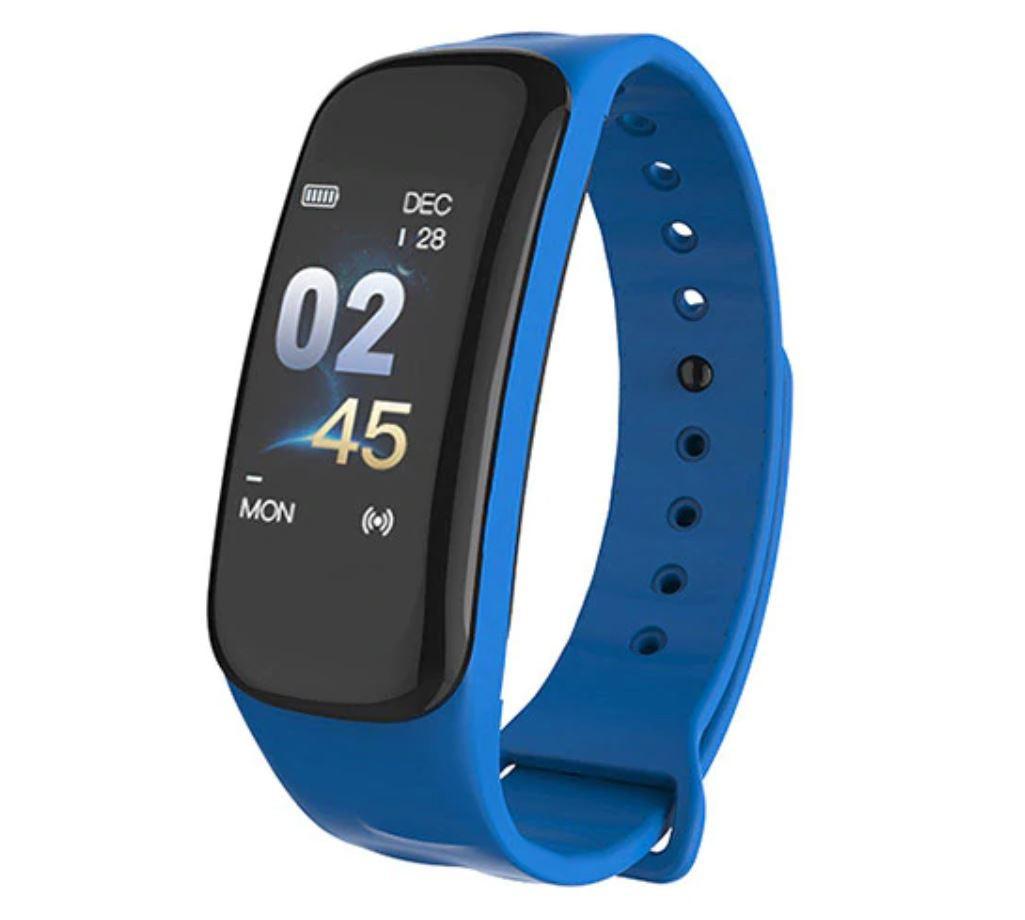 Bratara Smart Smartband Techstar® C1 Fitness, Waterproof IP65, BT4.0, OLED Color, Albastru imagine techstar.ro 2021