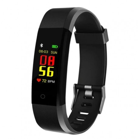 """Bratara Smart Fitness Techstar® ID115 Plus Fitness, 0,95"""" OLED, BT4.0, Waterproof IP67, Negru"""