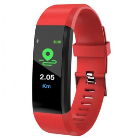 "Bratara Smart Fitness Techstar® ID115 Plus Fitness, 0,95"" OLED, BT4.0, Waterproof IP67, Rosu"