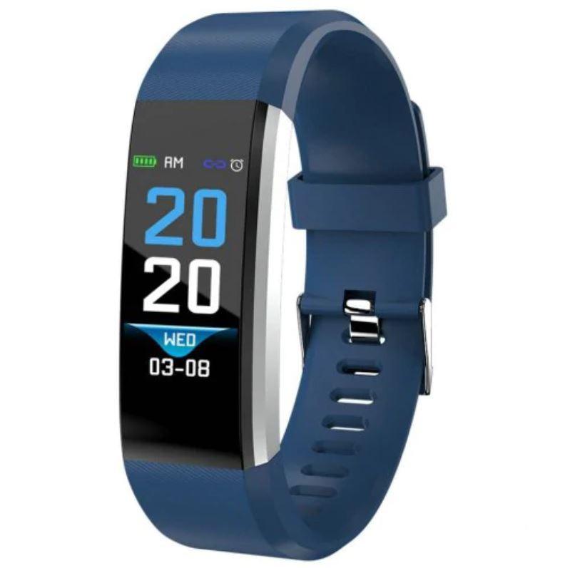 "Bratara Smart Fitness Techstar® ID115 Plus Fitness, 0,95"""" OLED, BT4.0, Waterproof IP65, Albastru imagine techstar.ro 2021"