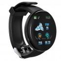 Bratara Fitness Smartband Techstar® D18 Waterproof IP65, Incarcare USB, Bluetooth 4.0, Display Touch Color OLED, Negru