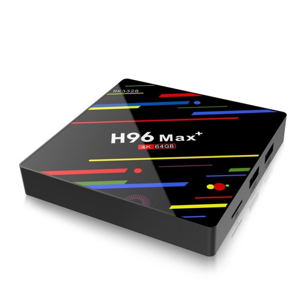 MINI PC ANDROID 9.0, TV BOX, MEDIA PLAYER 4K, H96 MAX+ PLUS, 4GB/64GB Wifi, Netflix subtitrare in romana imagine techstar.ro 2021