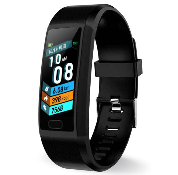 Bratara Fitness Smartband Techstar® T12 Waterproof IP65, Bluetooth 4.2, Compatibila Android & iOS, Display TFT 1.14