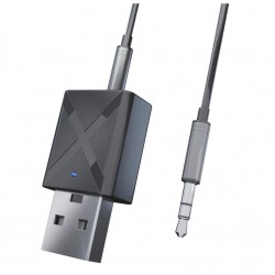 Adaptor Transmitator si Receptor Audio Techstar® Mini, Bluetooth 5.0 si 3.5mm Aux, Stereo, Wireless, pentru Auto sau TV