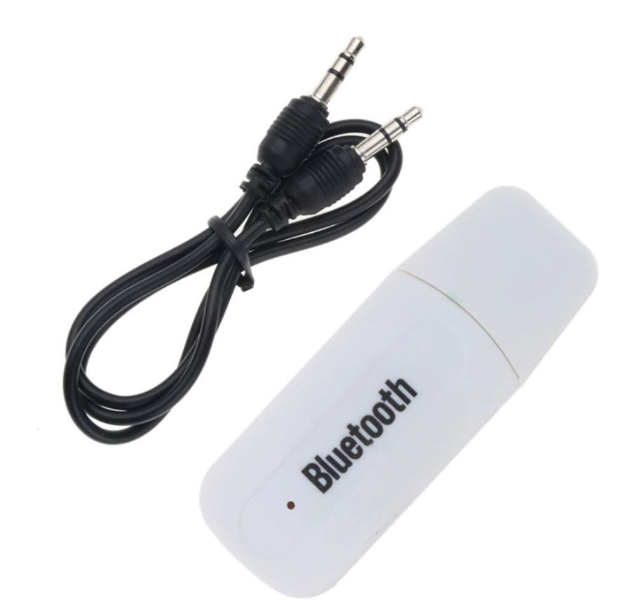 Receptor Audio Adaptor USB Techstar® A2DP cu Jack 3.5mm Transmitator AUX, Alb imagine techstar.ro 2021