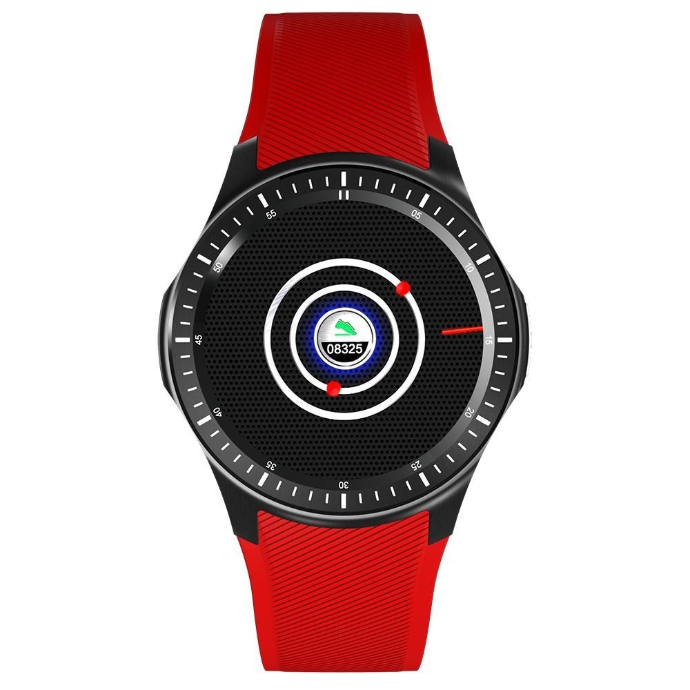 Smartwatch Telefon cu Android iUni DM368 Plus, AMOLED 1.39 inch, Wi-Fi, 4G, GPS, Bluetooth, Rosu imagine techstar.ro 2021