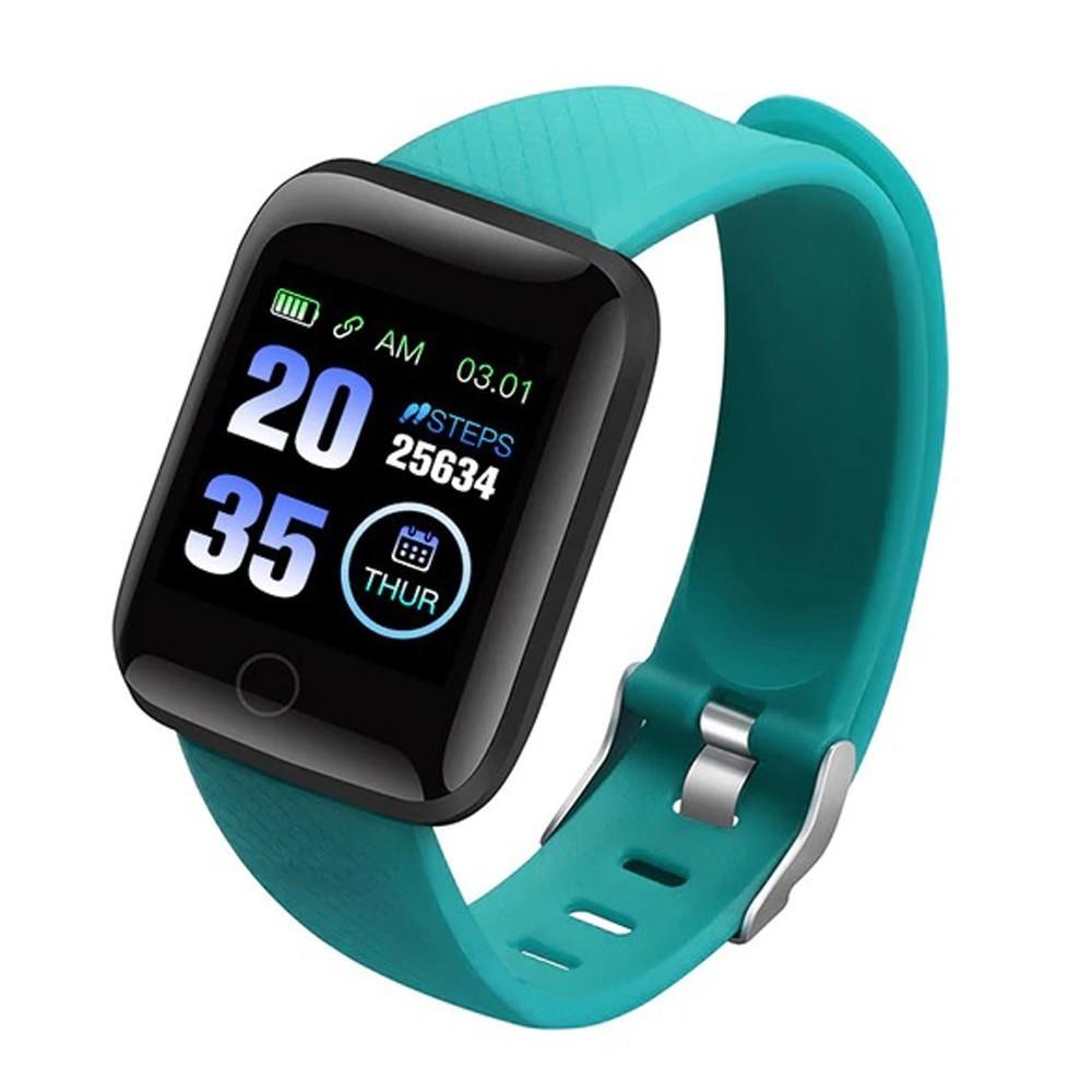 Bratara Fitness iUni 116 Plus, Bluetooth, Notificari, Pedometru, Monitorizare sedentarism, Puls, Green imagine techstar.ro 2021