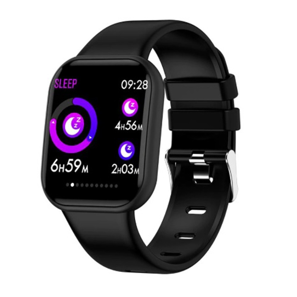 Bratara Fitness iUni X16, Bluetooth, Notificari, Pedometru, Monitorizare sedentarism, Puls, Black