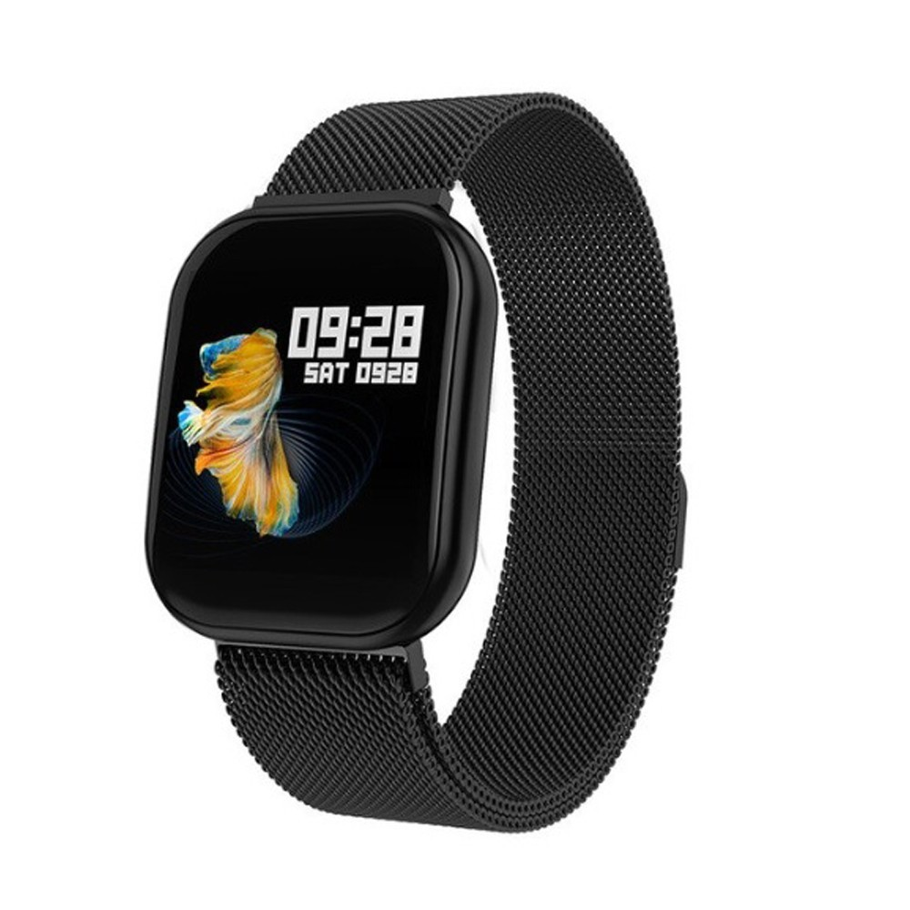 Bratara Fitness iUni X16, Curea Metalica, Bluetooth, Notificari, Pedometru, Monitorizare sedentarism, Black imagine techstar.ro 2021