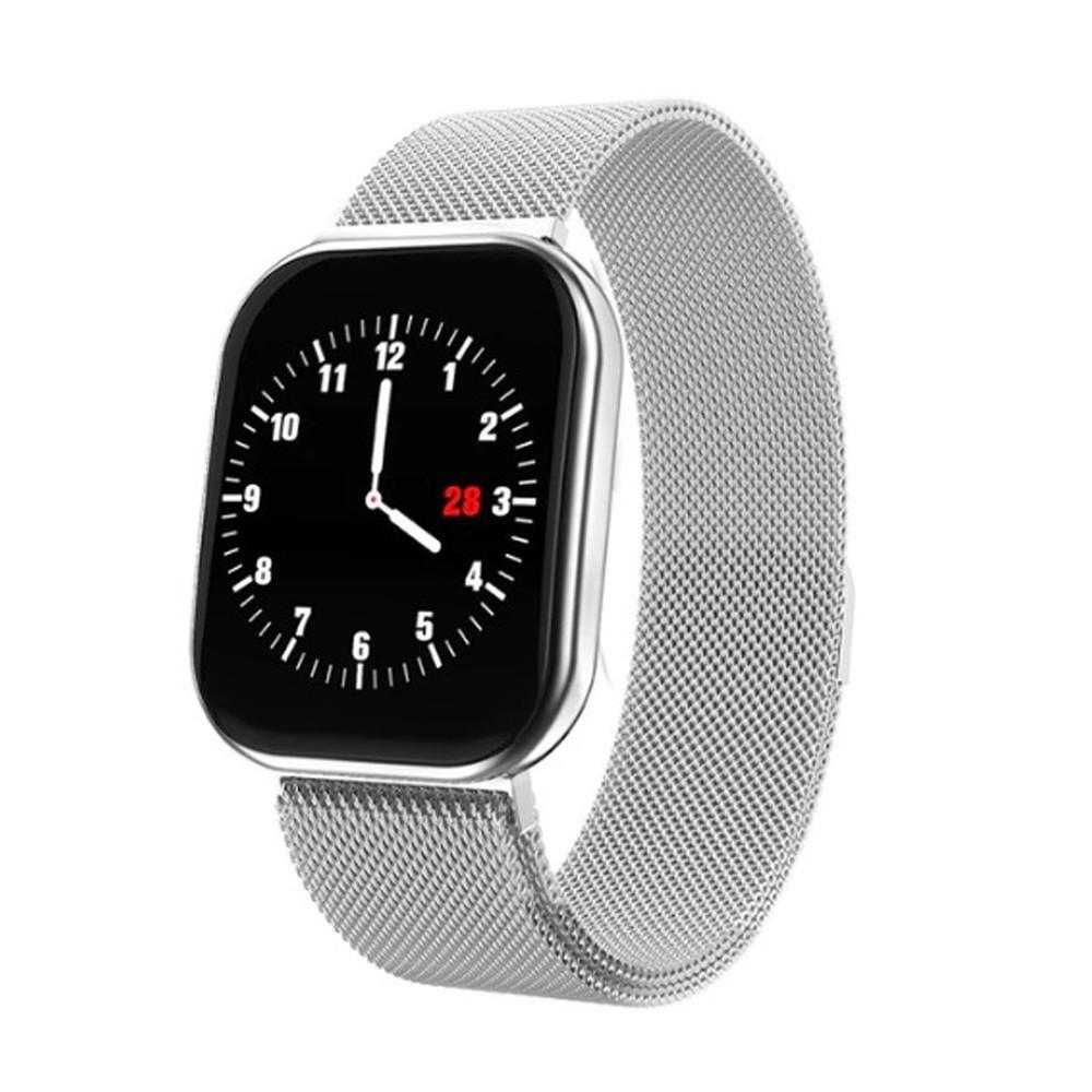 Bratara Fitness iUni X16, Curea Metalica, Bluetooth, Notificari, Pedometru, Monitorizare sedentarism, Silver imagine techstar.ro 2021
