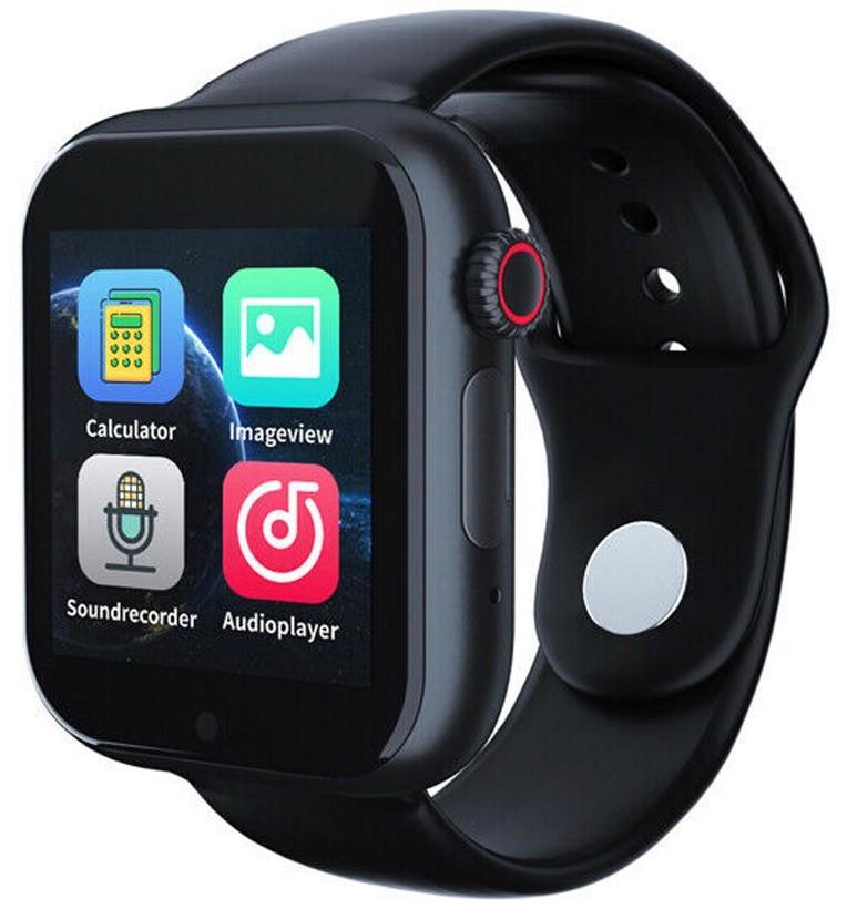 Ceas Smartwatch cu telefon iUni Z6S, Touchscreen, Bluetooth, Notificari, Camera, Pedometru, Black