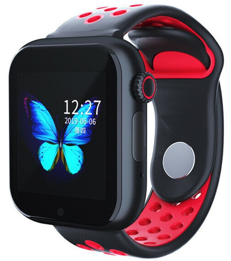 Ceas Smartwatch cu telefon iUni Z6S, Touchscreen, Bluetooth, Notificari, Camera, Pedometru, Red