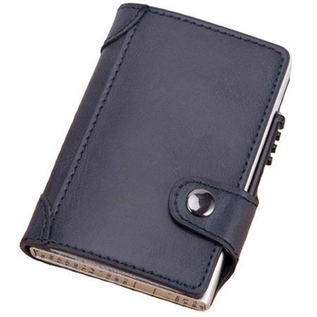 Portofel unisex, port card iUni P4, RFID, Compartiment 9 carduri, Bleumarin imagine techstar.ro 2021