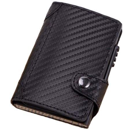 Portofel unisex, port card iUni P4, RFID, Compartiment 9 carduri, Print carbon imagine techstar.ro 2021