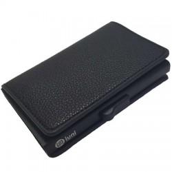 Portofel unisex, port card iUni P6, RFID, Compartiment 12 carduri, Negru