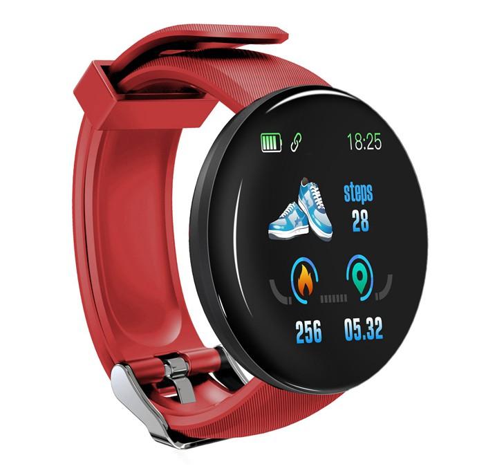 Bratara Fitness Smartband Techstar® D18 Waterproof IP65, Incarcare USB, Bluetooth 4.0, Display Touch Color OLED, Rosu imagine techstar.ro 2021