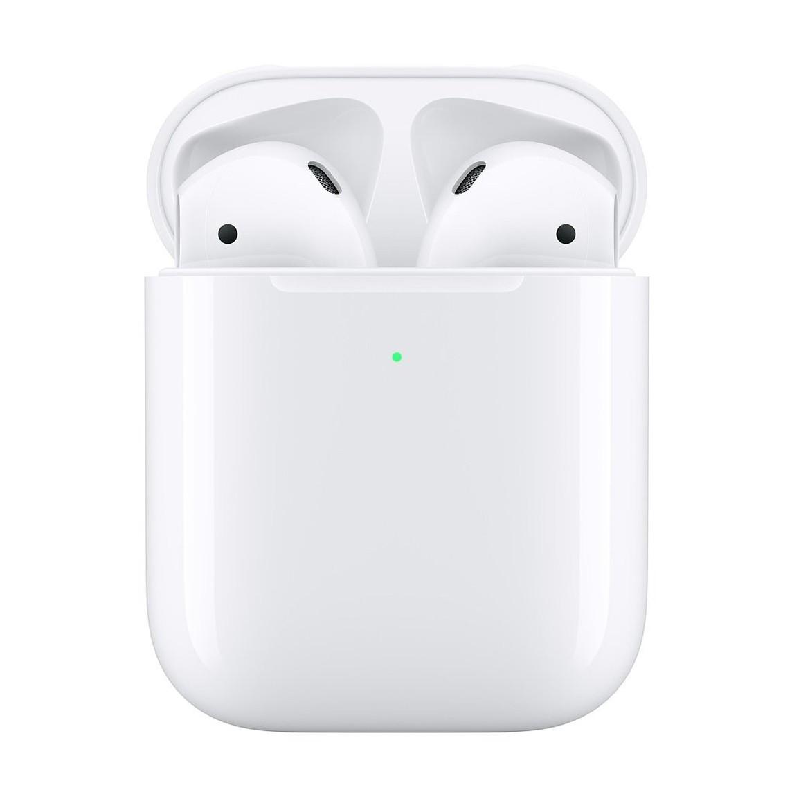 Casti i9000 TWS AIR 2 Techstar®, Bluetooth 5.0, Wireless QI, Pentru Android si iOS, Alb, Rezistente la Apa
