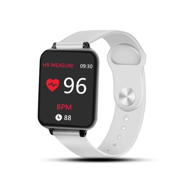 Ceas Smartwatch Techstar® B57 Alb HandsFree Waterproof Bluetooth 4.0 Monitorizare ritmului Cardiac